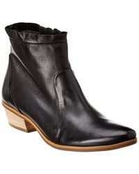 Paul Green Shaw Leather Bootie - Black