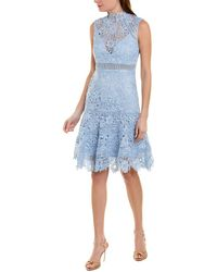 Bardot Elise A-line Dress - Blue