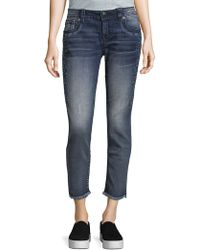 Miss Me - Embroidered Skinny Ankle Jeans - Lyst