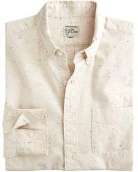 J.Crew Slim Neppy Chambray Shirt - Natural