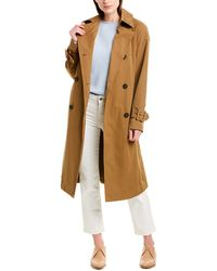 Vince Belted Tech Trench Coat - Brown