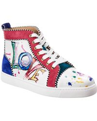 size 40 3640f 378c3 Orlato Leather Love High Top Sneakers - White