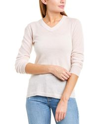 INHABIT Ribbed Cashmere Sweater - Pink