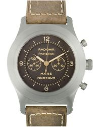 Panerai Men's Leather Watch - Multicolor