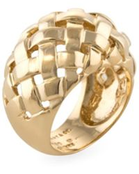 Tiffany & Co. - Vintage 18k Yellow Gold Weave Dome Band Ring - Lyst