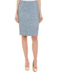 St. John Wool-blend Pencil Skirt - Blue