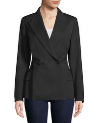 Lanvin Double-breasted Wool Blazer - Black