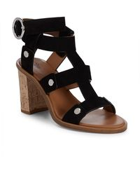 Frye - Nina Rivet Leather Ankle-strap Sandals - Lyst