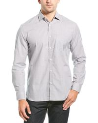 Billy Reid Holt Standard Fit Woven Shirt - Gray