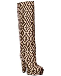 Gucci Rhombus Knee High Boot - Multicolor
