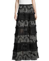 Alexis Carosini Embroidered Skirt - Black