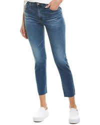 AG Jeans The Isabelle 11 Years Contemplate High-rise Straight Crop - Blue