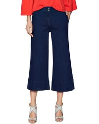 Plenty by Tracy Reese Tailored Cotton Culottes - Blue