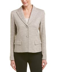 Lafayette 148 New York Tweed Jacket - Natural