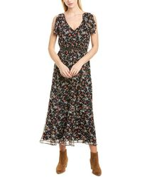 Joie Huntlie Silk Midi Dress - Black