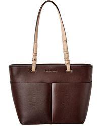 MICHAEL Michael Kors Medium Bedford Leather Pocket Tote - Brown