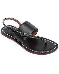 Bernardo Meg Leather Sandal - Black