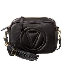 Valentino By Mario Valentino Mia Leather Crossbody - Black