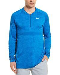 Nike Hz Standard Fit Dry Top - Blue