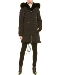Nicole Benisti Madison Leather-trim Down Coat - Black