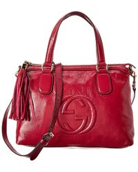 Gucci Red Patent Leather 2way Soho Bag