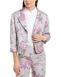 Anna Sui Peonies Jacket - Purple