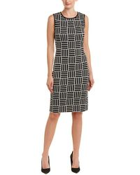 St. John Wool-blend Shift Dress - Black