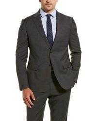 Z Zegna Z Zenga 2pc Wool Suit With Flat Pant - Grey