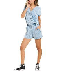 Michael Stars Pixie Crossover Romper - Blue