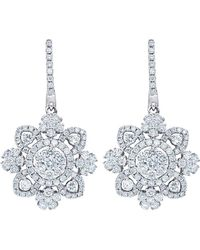 Diana M. Jewels . Fine Jewellery 18k 2.65 Ct. Tw. Diamond Drop Earrings - Metallic