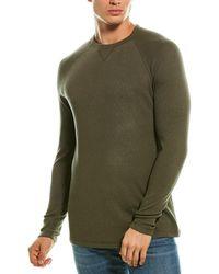 Benson Thermal Crewneck Wool-blend Sweatshirt - Green