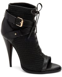 BCBGMAXAZRIA Gia Lace Up Buckle Bootie - Black