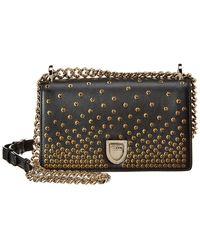 Dior Small Ama Studded Leather Shoulder Bag - Black