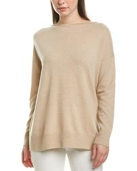 Lafayette 148 New York Relaxed Cashmere Pullover - Natural