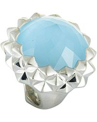 Stephen Webster Silver 43.50 Ct. Tw. Gemstone Ring - Blue