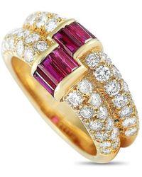 Van Cleef & Arpels Vintage Van Cleef & Arpels 18k 2.00 Ct. Tw. Diamond & Ruby Ring - Metallic