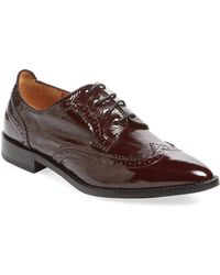 Aquatalia - Gwen Patent Leather Wingtip Oxford - Lyst