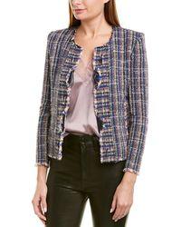 IRO Frannie Tweed Long Sleeve Jacket - Blue