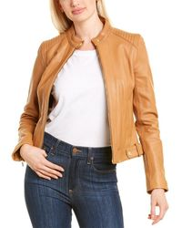 Cole Haan Petite Leather Jacket - Multicolour