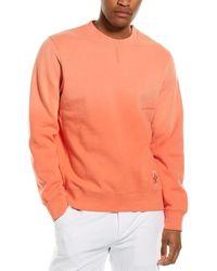 Ovadia Sunwash Crewneck Sweatshirt - Orange