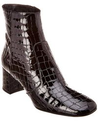 Karen Millen - Patent Croc Bootie - Lyst