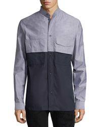 Diesel Black Gold - Sezar Mandarin Collar Shirt - Lyst