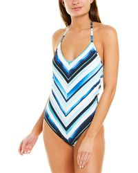 La Blanca Meridian Stripe One-piece Swimsuit - Blue