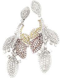 Diana M. Jewels . Fine Jewellery 14k 3.46 Ct. Tw. Diamond Drop Earrings - Metallic