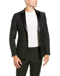 Z Zegna 2pc Wool & Mohair-blend Suit With Flat Pant - Black