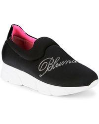 Blumarine Logo Embellished Trainers - Black