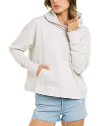 James Perse Relaxed Cropped Hoodie - Gray