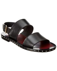 Valentino Leather Sandal - Black