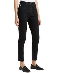 AG Jeans 1 Year Black Hawk High-waist Slim Straight Ankle Cut Jean
