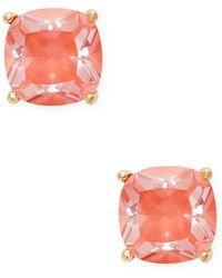 Kate Spade - Enamel Mini Small Square Stud Earrings - Lyst